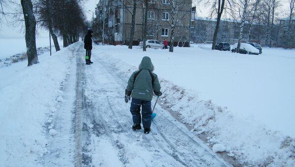 Снег на набережной Риги - Sputnik Латвия