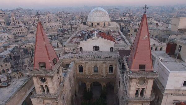 С высоты птичьего полета: северная столица Сирии после изгнания боевиков - Sputnik Латвия
