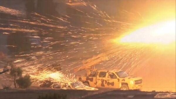 Наступление сирийской армии на боевиков в районе Вади Барада в Дамаске - Sputnik Латвия