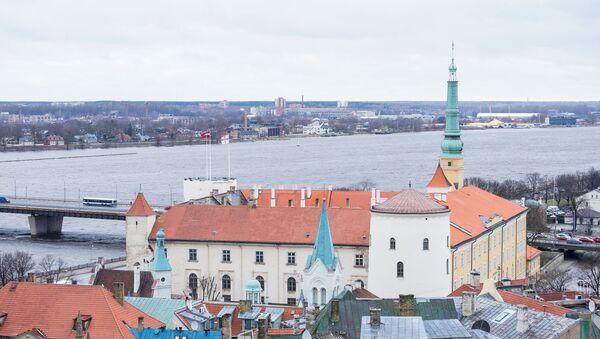 Вид на Ригу с Домского собора - Рижский замок, резиденция президента - Sputnik Латвия