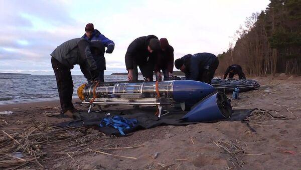 Испытания подводного робота-планера в Балтийском море - Sputnik Латвия