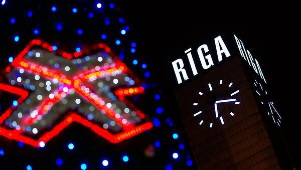 Новогодняя Рига сияет огнями - Sputnik Латвия