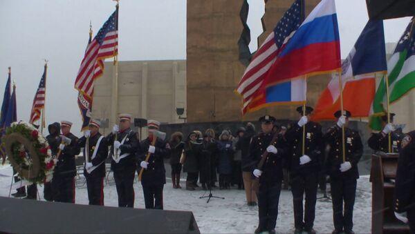 Гимн РФ в исполнении американцев – в США почтили память жертв крушения Ту-154 - Sputnik Latvija