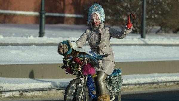 Второй зимний Московский Велопарад - Sputnik Latvija