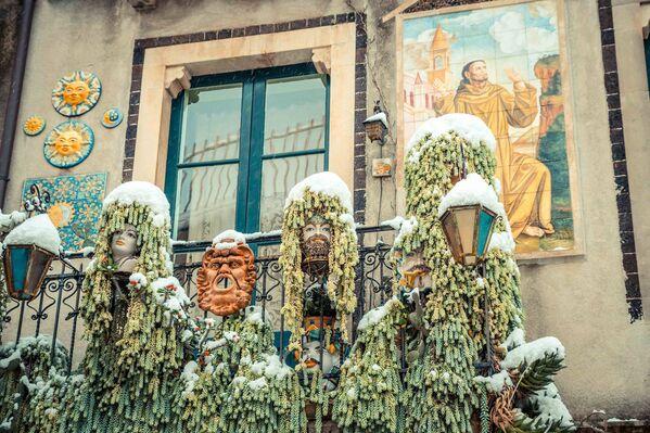 Заснеженная Сицилия: природа сошла с ума - Sputnik Латвия