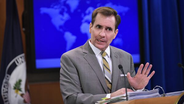 ASV Ārlietu ministrijas pārstāvis Džons Kirbijs - Sputnik Latvija