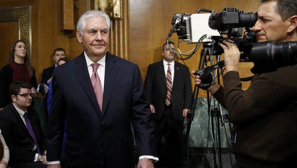 Рекс Тиллерсон в Сенатском Комитете по иностранным делам в Вашингтоне - Sputnik Латвия
