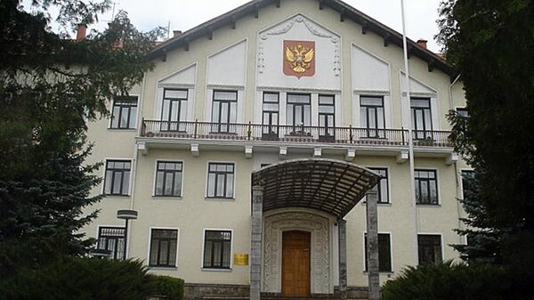 Krievijas vēstniecības ēka Lietuvā - Sputnik Latvija
