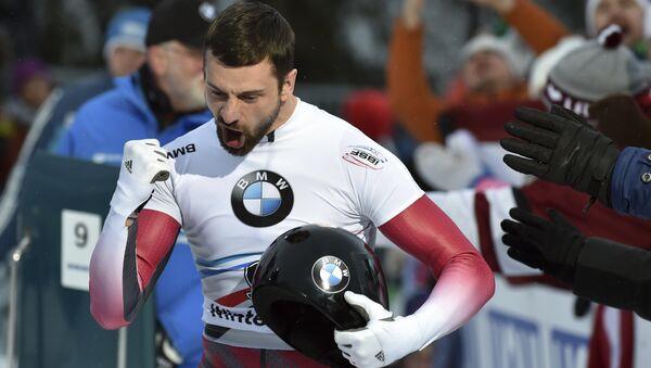 Мартинс Дукурс завоевал первое место в скелетоне на соревнованиях в Винтерберге - Sputnik Латвия