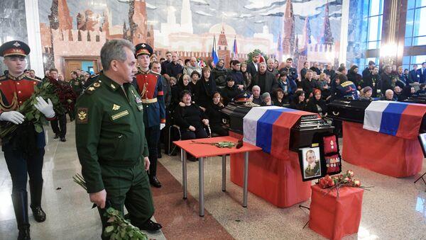 Прощание с погибшими при крушении самолета Ту-154 - Sputnik Латвия
