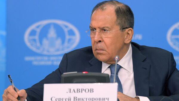 Пресс-конференция министра иностранных дел РФ С. Лаврова - Sputnik Latvija