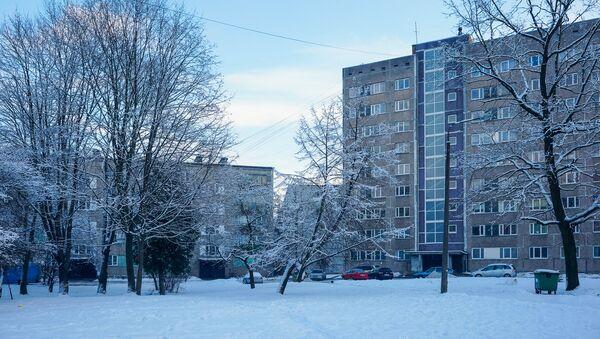 Многоэтажки рижского района Засулаукс на улице Грегора - Sputnik Латвия