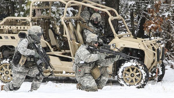 Amerikāņu karavīri mācībās. Foto no arhīva - Sputnik Latvija