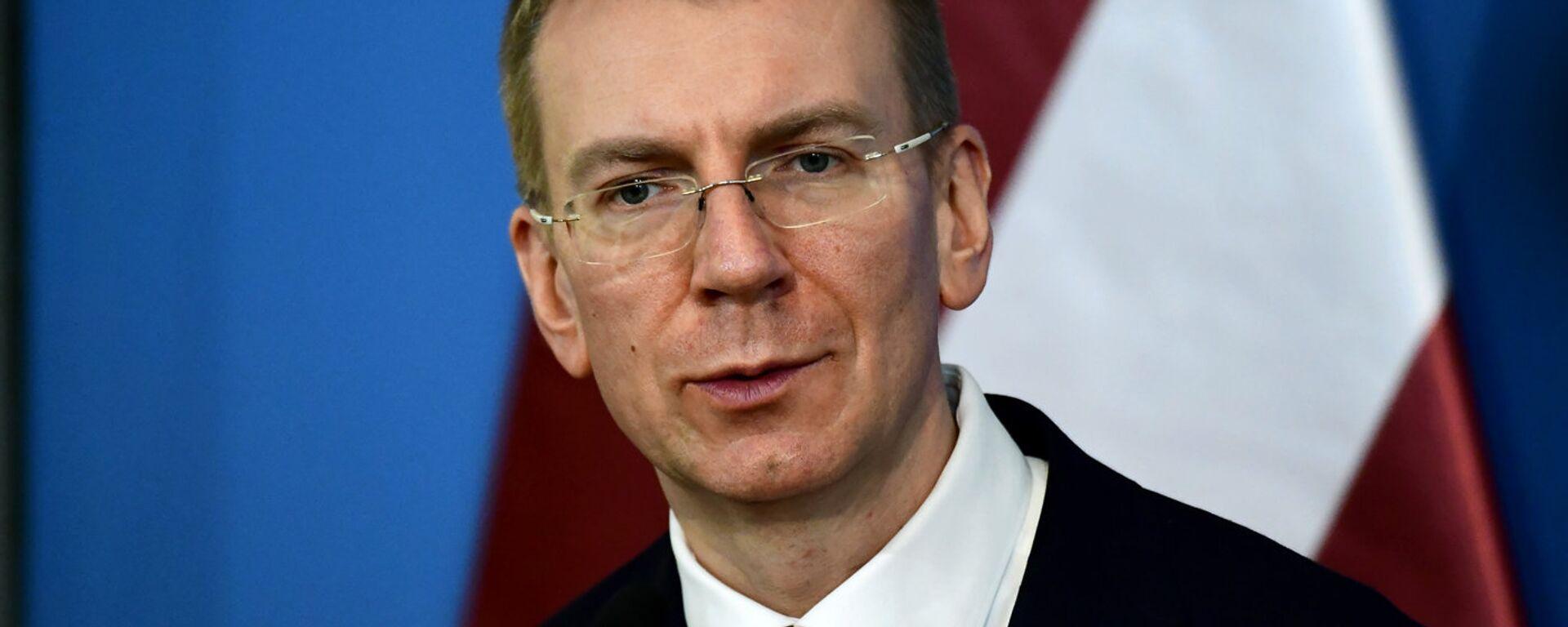 Министр иностранных дел Латвии Эдгар Ринкевич - Sputnik Латвия, 1920, 09.08.2021