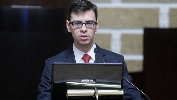 Юрист фракции Европейский свободный альянс в Европарламенте Алексей Димитров - Sputnik Латвия