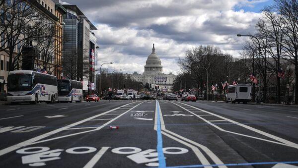 Вашингтон перед инаугурацией Дональда Трампа - Sputnik Latvija