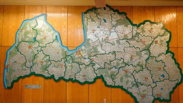 Карта совхозов и колхозов Латвийской ССР - Sputnik Латвия