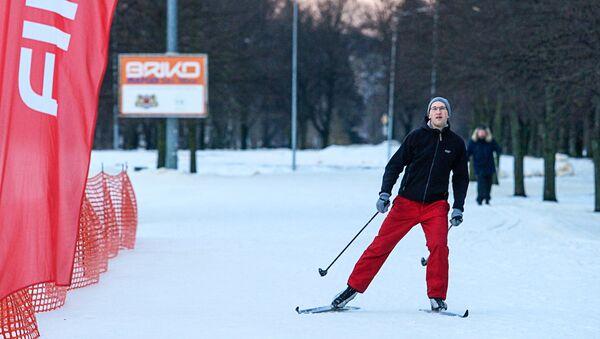 Лыжная трасса в Парке Победы - Sputnik Латвия