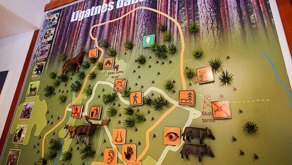 Информационная карта природного парка Лигатне - Sputnik Латвия