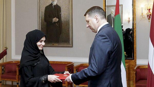 Аккредитация посла из ОАЭ в Латвии Ханан Халфан Обаид Али Аль Мадхани - Sputnik Латвия