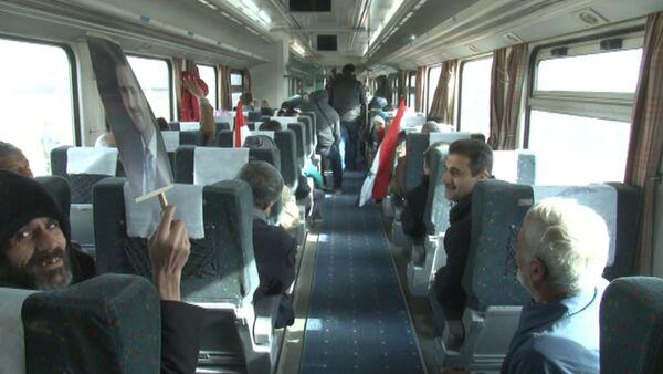 Первый поезд приехал в сирийский Алеппо с начала войны - Sputnik Latvija