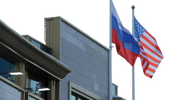 Флаги России и США - Sputnik Latvija