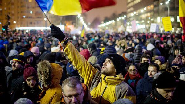 Протесты в Румынии - Sputnik Латвия