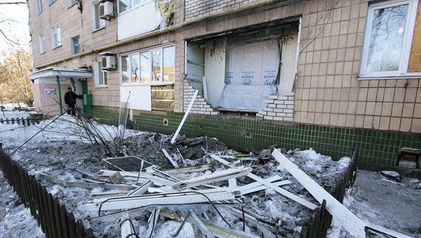 Последствия обстрелов в Донецкой области - Sputnik Латвия