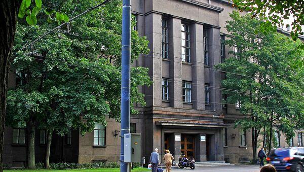 Здание бывшей Ломоносовской гимназии в Риге - Sputnik Латвия