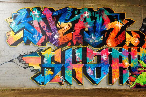 Grafiti zem Salu tilta - Sputnik Latvija