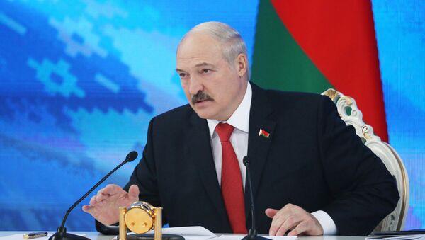 Пресс-конференция президента Белоруссии А. Лукашенко в Минске - Sputnik Латвия