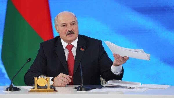 Президент Белоруссии Александр Лукашенко - Sputnik Латвия