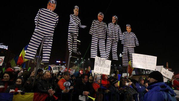 Protesti Rumānijā - Sputnik Latvija