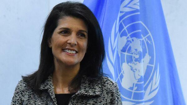ASV jaunā pastāvīgā pārstāve ANO Nikija Heilija - Sputnik Latvija