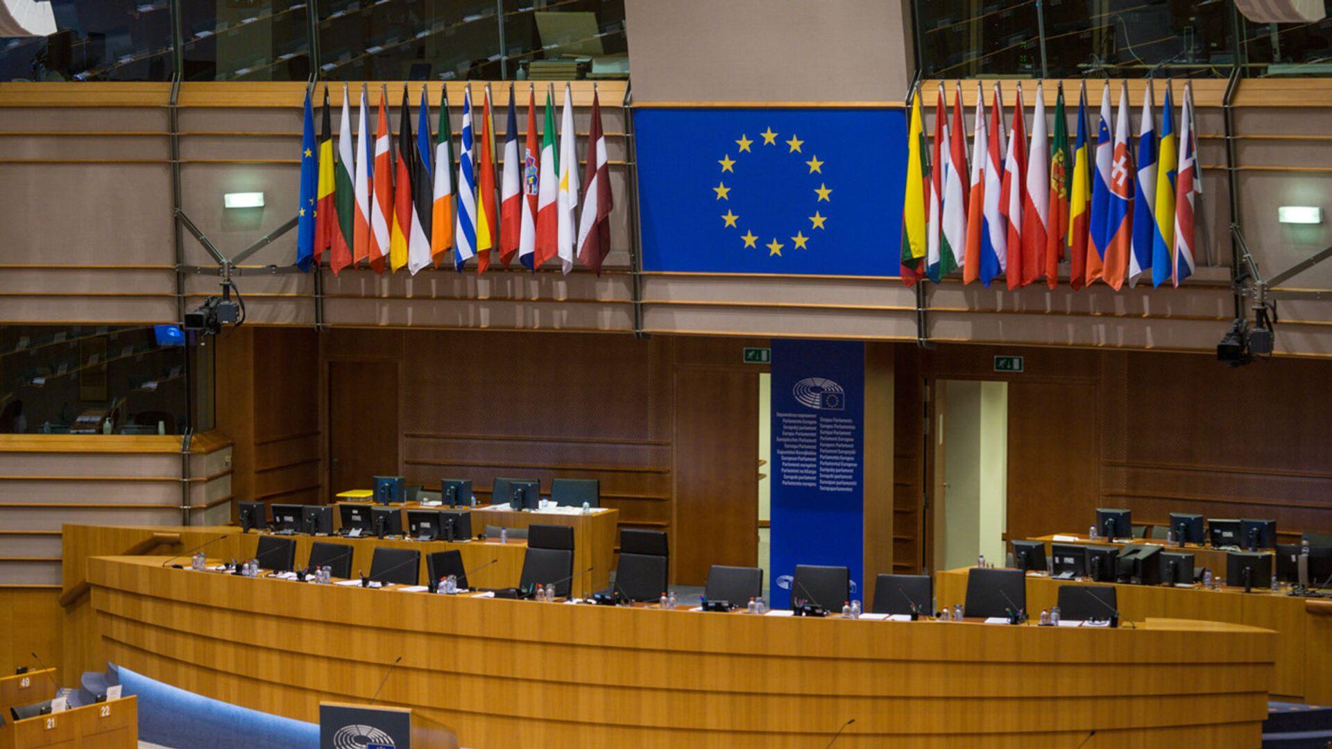 Зал заседаний Европарламента - Sputnik Латвия, 1920, 15.07.2021