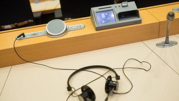 Eiropas parlamenta sēžu zālē - Sputnik Latvija