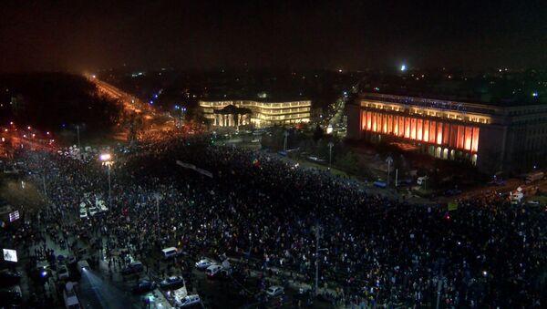 Протесты в Бухаресте - Sputnik Латвия