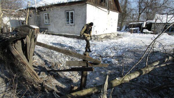 Последствия обстрелов в Донецкой области - Sputnik Latvija