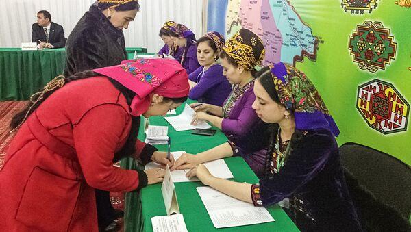 Turkmenistānā notiek prezidenta vēlēšanas - Sputnik Latvija