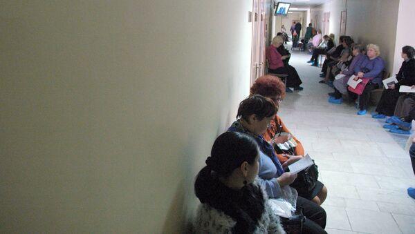 В коридоре поликлиники - Sputnik Латвия
