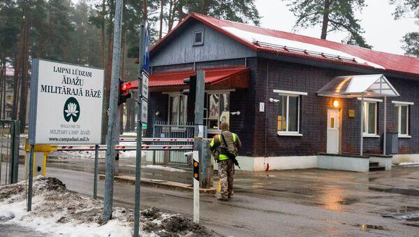 Въезд на военную базу Адажи, где расквартирован американский контингент - Sputnik Латвия