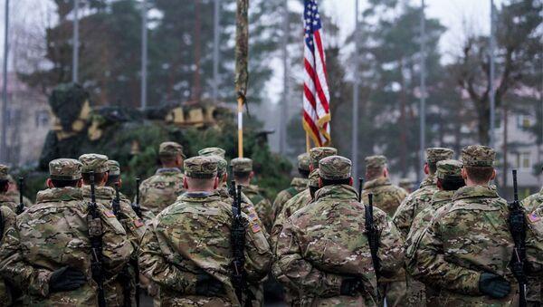 Церемония смены американского контингента - Sputnik Latvija