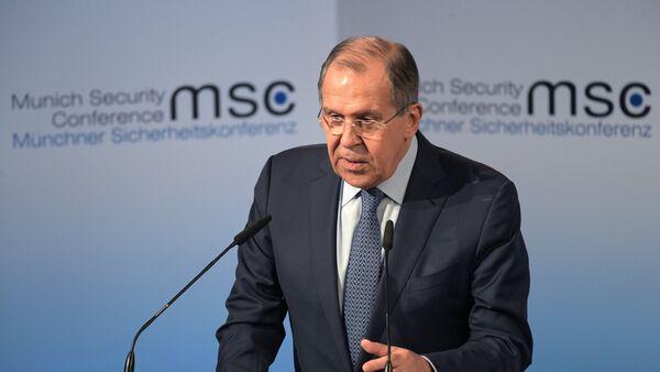 Министр иностранных дел РФ С. Лавров на 53-й Мюнхенской конференции по безопасности - Sputnik Латвия