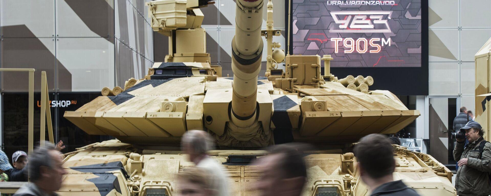 Танк Т-90МС на международном военно-техническом форуме - Sputnik Латвия, 1920, 01.07.2020