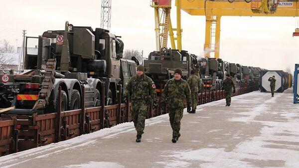 Čehijas militārā tehnika ierodas Lietuvā. Foto no arhīva - Sputnik Latvija