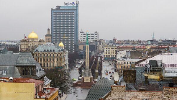 Вид на Памятник Свободы и улицу Бривибас - Sputnik Latvija
