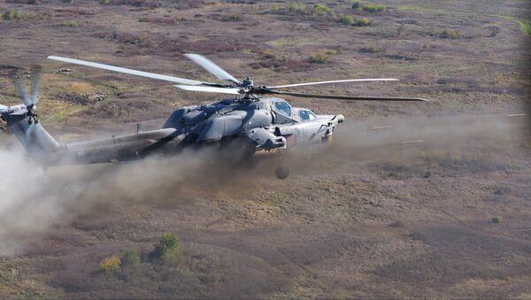 Учения вертолетного полка в Кореновске - Sputnik Latvija