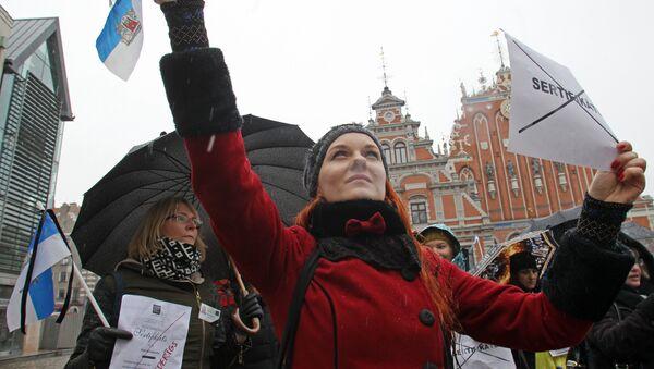 Рижские гиды протестуют - Sputnik Латвия