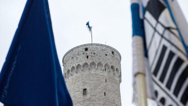 Эстонский флаг на Длинном Германе - Sputnik Латвия