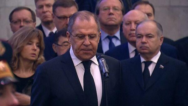 Церемония прощания с постоянным представителем РФ при ООН Виталием Чуркиным - Sputnik Латвия